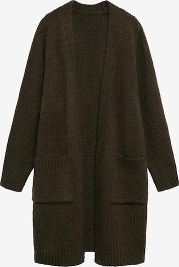 MANGO Gebreid vest in de kleur Kaki, Productweergave