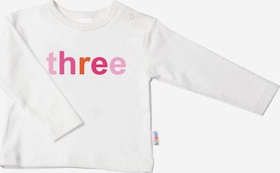 LILIPUT Niedliches Langarmshirt mit 'THREE'-Print in ecru, Produktansicht