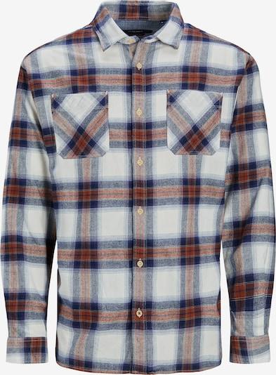 JACK & JONES Overhemd 'Joe' in de kleur Navy / Roestbruin / Wit, Productweergave