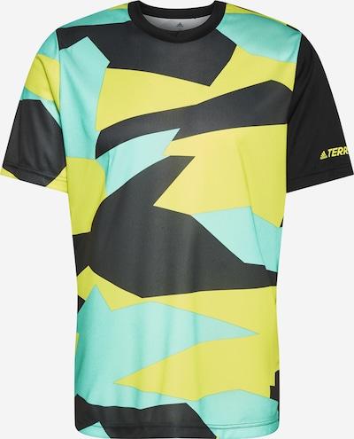 ADIDAS PERFORMANCE Functioneel shirt in de kleur Geel / Groen / Zwart, Productweergave