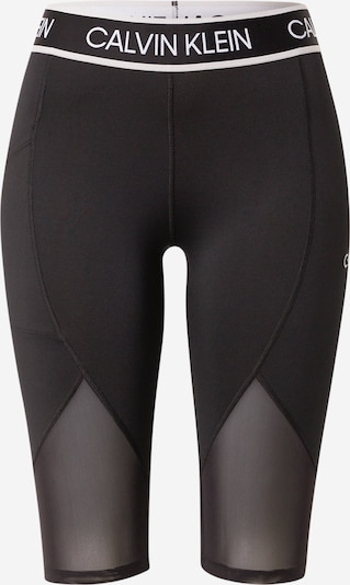 Calvin Klein Performance Sports trousers in black / white, Item view
