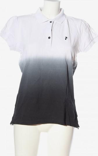 PEAK PERFORMANCE Polo-Shirt in L in schwarz / weiß, Produktansicht