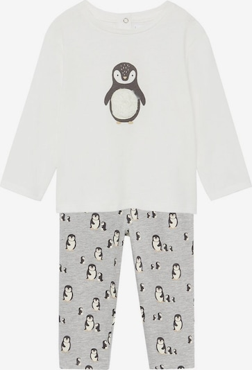 MANGO KIDS Pyjama in grau / weiß, Produktansicht
