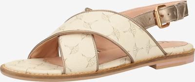 JOOP! Sandalen met riem in de kleur Goud / Wit, Productweergave