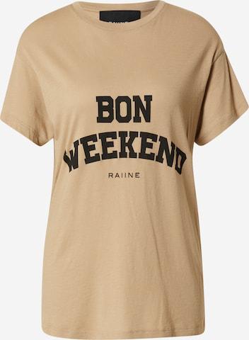 RAIINE T-Shirt in Beige