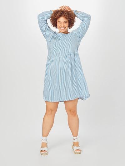 MY TRUE ME Blusenkleid in blau / weiß, Modelansicht