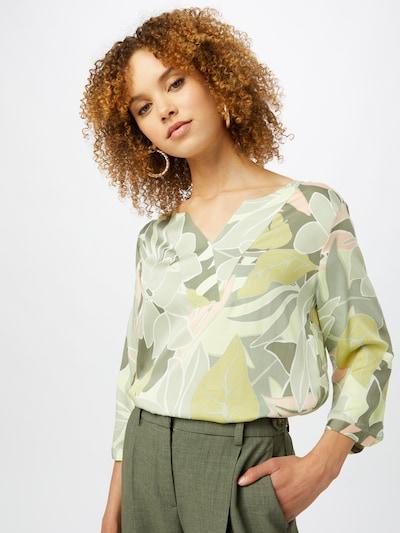 Bluză COMMA pe kaki / verde stuf / verde deschis / roz / alb, Vizualizare model