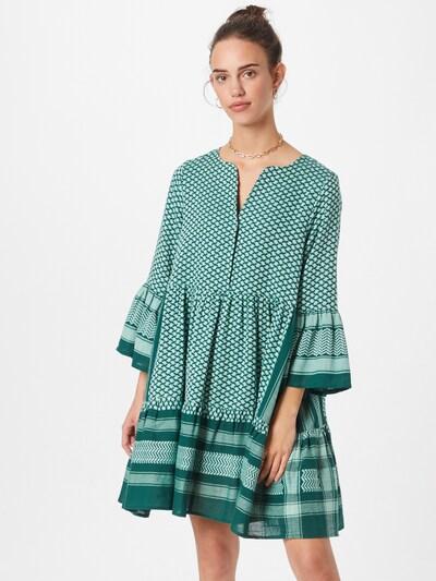 Cecilie Copenhagen Kleid 'Julia' in smaragd / weiß, Modelansicht