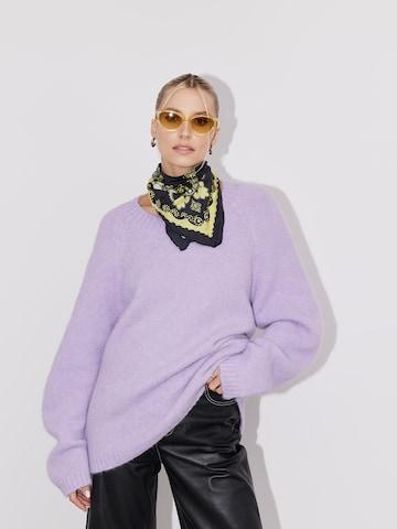 LeGer by Lena Gercke Oversized Sweater 'Sandra' in Purple