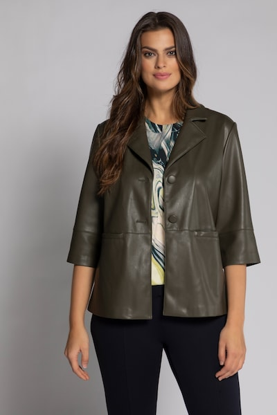 Ulla Popken Blazer in khaki, Modelansicht