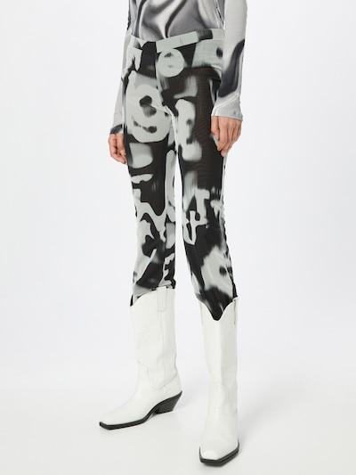WEEKDAY Hose 'Cecile' in schwarz / weiß, Modelansicht