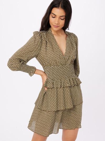 ONLY Kleid 'IRENA' in khaki / weiß, Modelansicht