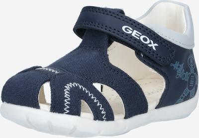 GEOX Odprti čevlji 'ELTHAN' | modra / mornarska / bela barva: Frontalni pogled