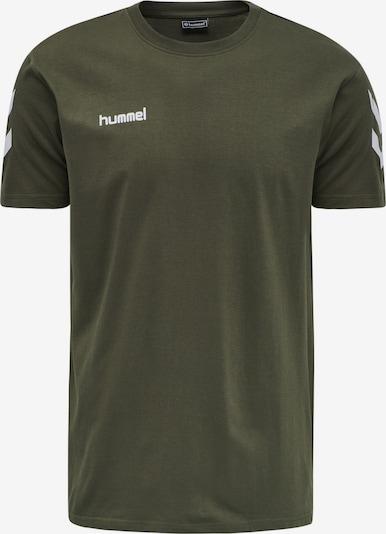 Hummel Functioneel shirt in de kleur Donkergroen / Wit, Productweergave