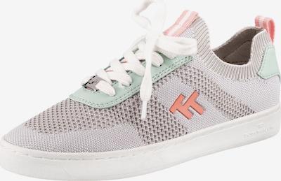 TOM TAILOR Sneaker in grau / mint / pastellorange, Produktansicht