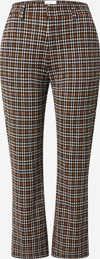 Freequent Spodnie w kolorze karmelowy / czarny / białym, Podgląd produktu