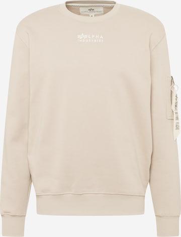 ALPHA INDUSTRIESSweater majica - bež boja