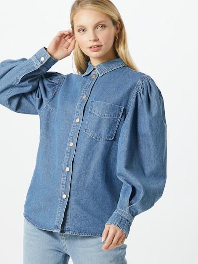 Essentiel Antwerp Bluse in blau, Modelansicht