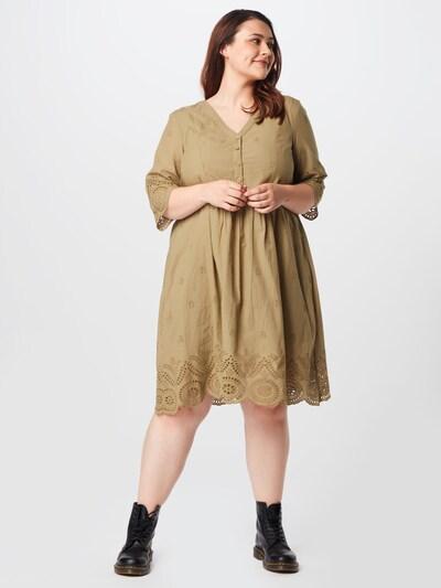 Zizzi Kleid 'MALVA' in khaki, Modelansicht