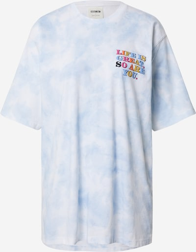 Tricou supradimensional 'Ercin' ABOUT YOU x Laura Giurcanu pe albastru deschis / mai multe culori / alb, Vizualizare produs
