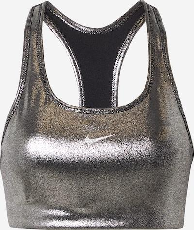 NIKE Sports-BH i sort / sølv, Produktvisning