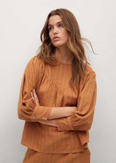MANGO Bluse 'Textl-H' in braun, Modelansicht