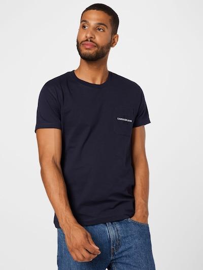 Calvin Klein Jeans T-Shirt in nachtblau, Modelansicht