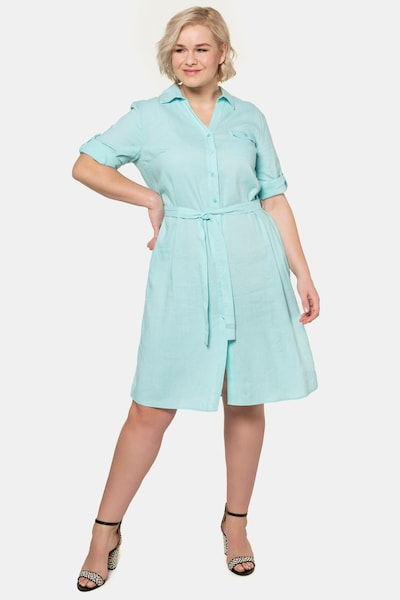 Ulla Popken Kleid in azur, Modelansicht