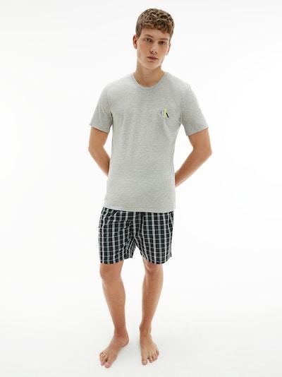 Calvin Klein Underwear Pyjama in hellgrau / dunkelgrau, Modelansicht