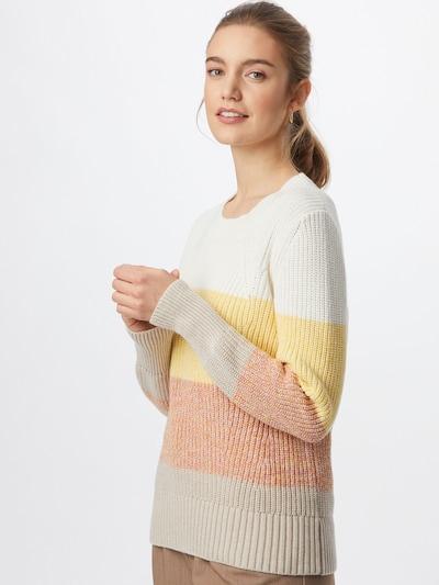 GAP Sveter - žltá / sivá / ružová / biela: Pohľad spredu