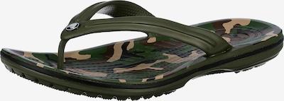 Crocs Crocband Printed Flip Zehentrenner in khaki, Produktansicht