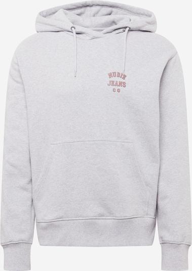 Nudie Jeans Co Sweatshirt 'Franke' in Light grey / Melon / Black, Item view