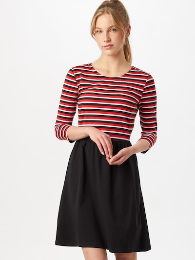 ONLY Kleid 'AMBER' in rot / schwarz / weiß, Modelansicht