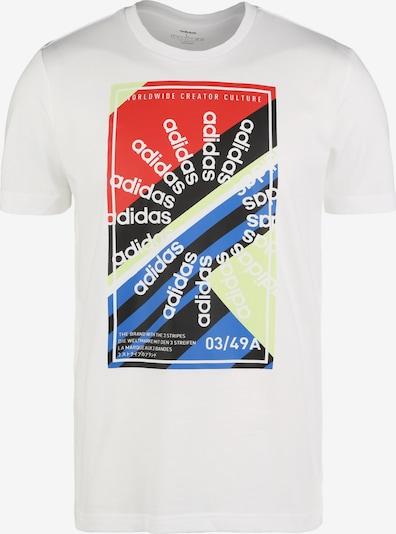 ADIDAS PERFORMANCE T-Shirt in blau / rot / schwarz / weiß, Produktansicht