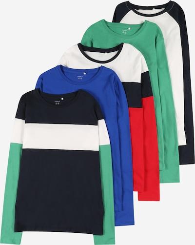 NAME IT Shirt 'NEO' in de kleur Donkerblauw / Groen / Rood / Wit, Productweergave