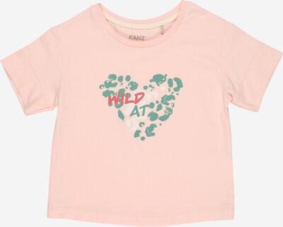 KANZ Shirt in de kleur Groen / Rosa / Wit, Productweergave