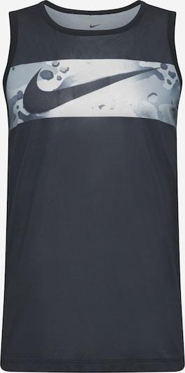 NIKE Sporta krekls 'Legend' dūmu zils / gaiši pelēks / melns, Preces skats