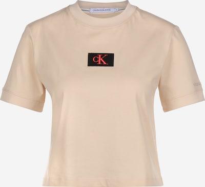 Calvin Klein Jeans T-Shirt in beige / rot / schwarz, Produktansicht