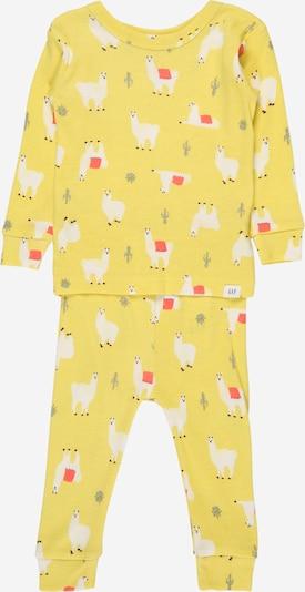 GAP Schlafanzug en limone / pastellgelb / anthrazit / grenadine, Vue avec produit