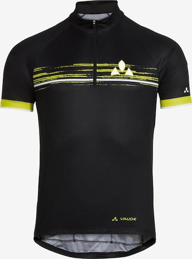 VAUDE Trikot 'Mitus' in gelb / tanne / schwarz / weiß, Produktansicht