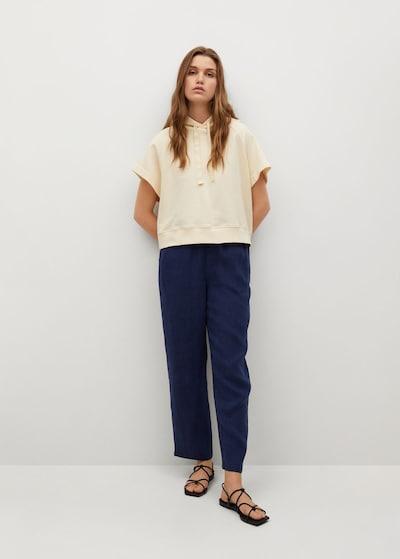 MANGO Hose 'Linen' in royalblau, Modelansicht