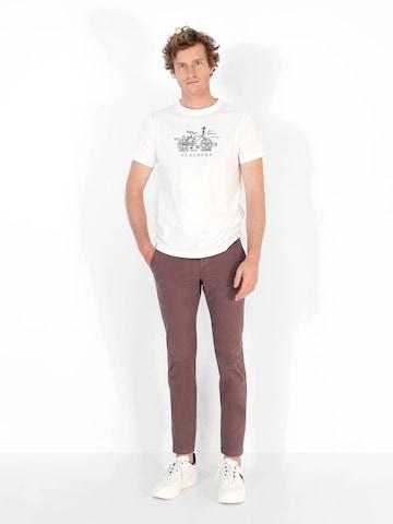Pantalon chino Scalpers en marron
