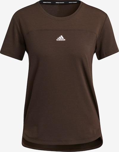 ADIDAS PERFORMANCE Tehnička sportska majica u smeđa / bijela, Pregled proizvoda