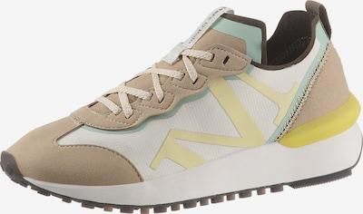 Marc O'Polo Sneaker 'Pia 2D' in beige / hellbeige / dunkelbraun / gelb / mint, Produktansicht