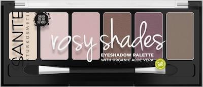 Sante Naturkosmetik Lidschatten 'Palette Rosy Shades' in beige / grau / lila / rosé, Produktansicht