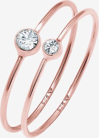 ELLI Ring Solitär-Ring in Gold