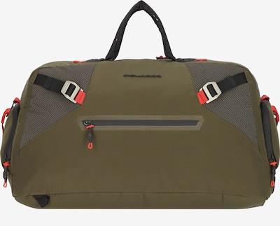 Piquadro Reisetasche in oliv / rot / schwarz, Produktansicht