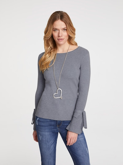 heine Pullover in graumeliert, Modelansicht