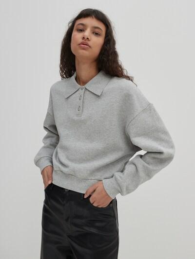 EDITED Блузон с качулка 'Mae' в сиво / сив меланж, Преглед на модела