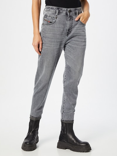 DIESEL Jeans 'FAYZA' in grey denim, Modelansicht